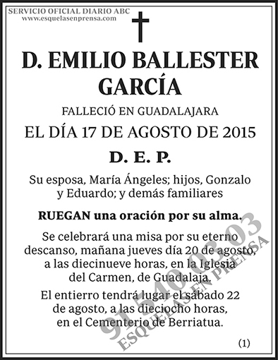 Emilio Ballester García